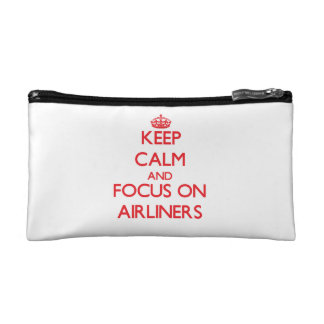 Keep calm and focus on AIRLINERS Makeup Bag