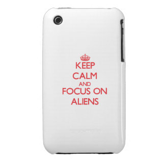 Keep calm and focus on ALIENS iPhone 3 Case