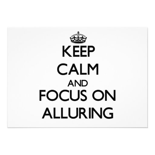 Keep Calm And Focus On Alluring Custom Invitation