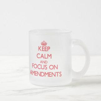 Keep calm and focus on AMENDMENTS Coffee Mug