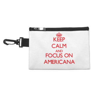 Keep calm and focus on AMERICANA Accessories Bag