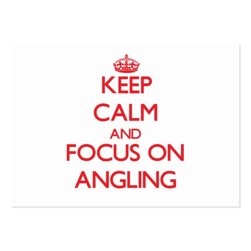 Keep calm and focus on ANGLING Business Card Template