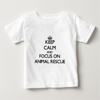 Keep calm and focus on Animal Rescue Baby T-Shirt