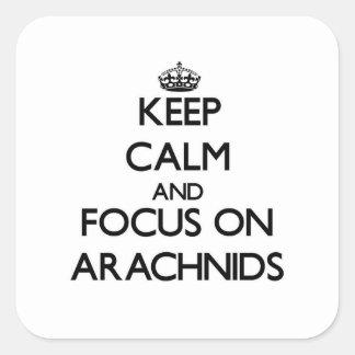 Keep calm and focus on Arachnids Square Sticker