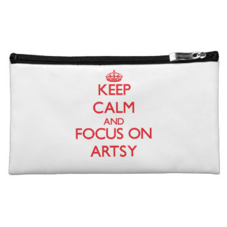 Keep calm and focus on ARTSY Makeup Bags
