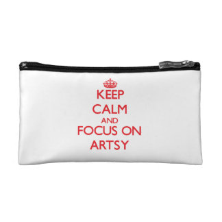 Keep calm and focus on ARTSY Makeup Bag