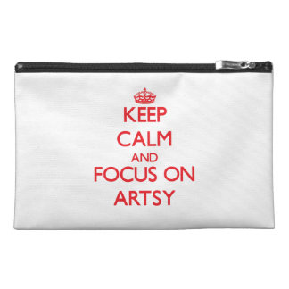 Keep calm and focus on ARTSY Travel Accessory Bag