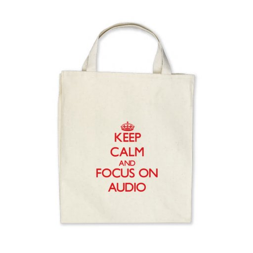 Keep calm and focus on AUDIO Tote Bag