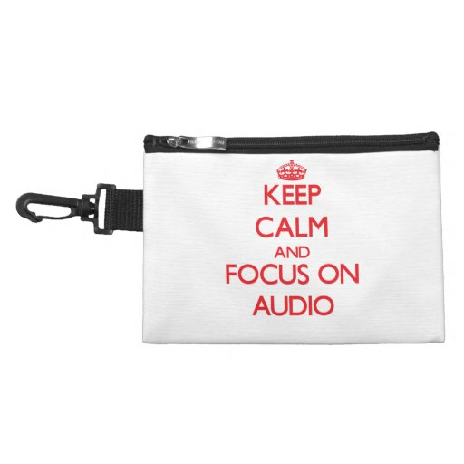 Keep calm and focus on AUDIO Accessories Bags