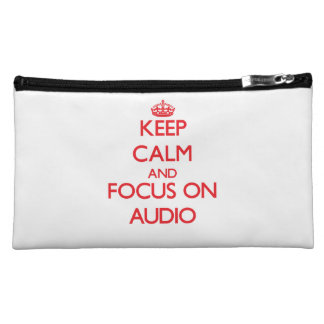 Keep calm and focus on AUDIO Makeup Bags