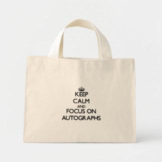 Keep calm and focus on Autographs Canvas Bag