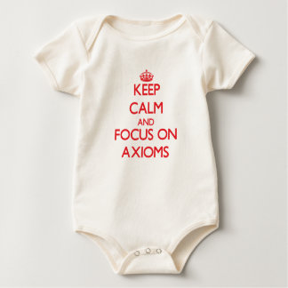 Keep calm and focus on AXIOMS Baby Bodysuits