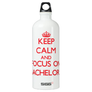 Keep Calm and focus on Bachelors SIGG Traveller 1.0L Water Bottle