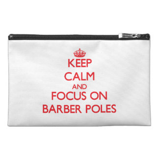 Keep Calm and focus on Barber Poles Travel Accessories Bag