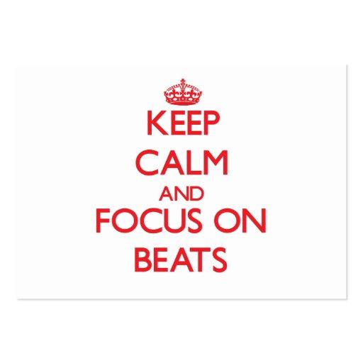 Keep Calm and focus on Beats Business Card Templates