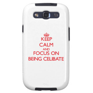 Keep Calm and focus on Being Celibate Samsung Galaxy SIII Covers