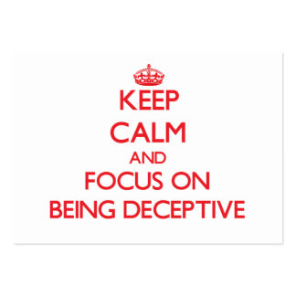 Keep Calm and focus on Being Deceptive Pack Of Chubby Business Cards