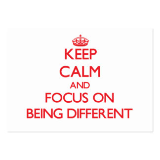 Keep Calm and focus on Being Different Business Card Template
