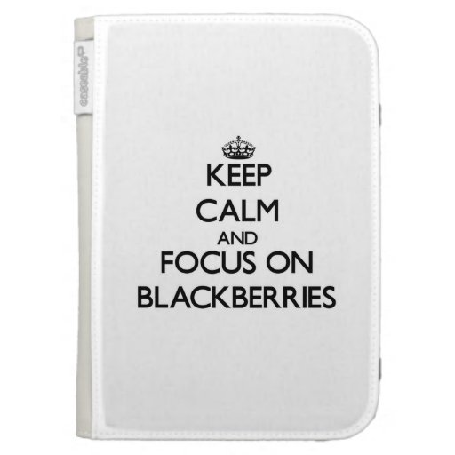 Keep Calm and focus on Blackberries Kindle 3G Cover