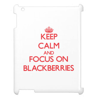 Keep Calm and focus on Blackberries iPad Covers