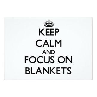 Keep Calm and focus on Blankets 13 Cm X 18 Cm Invitation Card