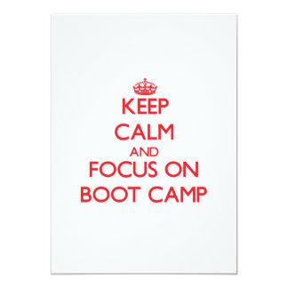 Keep Calm and focus on Boot Camp 13 Cm X 18 Cm Invitation Card