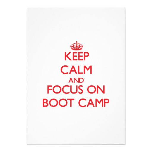 Keep Calm and focus on Boot Camp Cards
