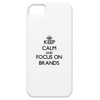 Keep Calm and focus on Brands iPhone 5/5S Cases
