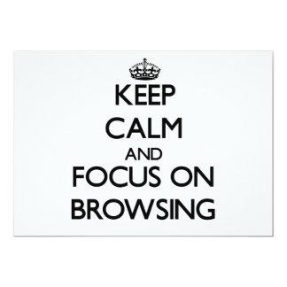 Keep Calm and focus on Browsing 13 Cm X 18 Cm Invitation Card