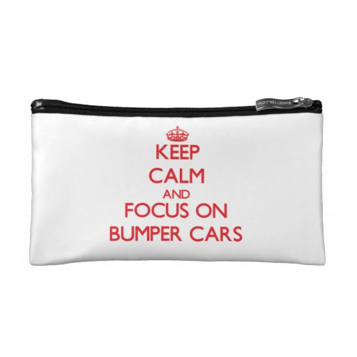 Keep Calm and focus on Bumper Cars Cosmetic Bag
