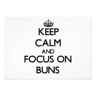 Keep Calm and focus on Buns Announcement