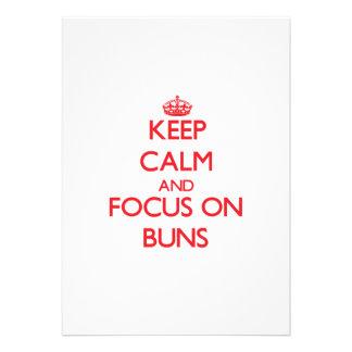 Keep Calm and focus on Buns Custom Invite