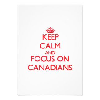 Keep Calm and focus on Canadians Personalized Invitations