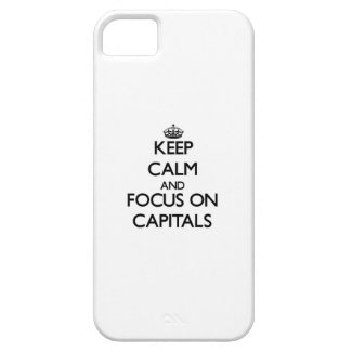 Keep Calm and focus on Capitals iPhone 5/5S Cover