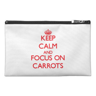 Keep Calm and focus on Carrots Travel Accessories Bags
