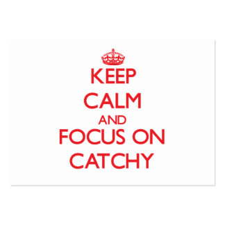 Keep Calm and focus on Catchy Pack Of Chubby Business Cards