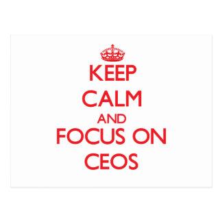 Keep Calm and focus on CEOs Postcards