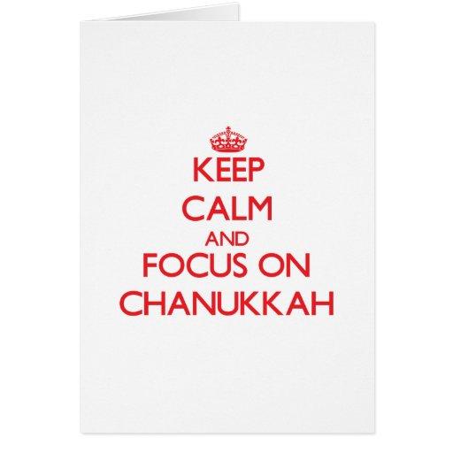 Keep Calm and focus on Chanukkah Card
