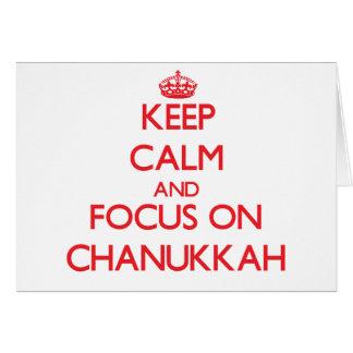 Keep Calm and focus on Chanukkah Cards