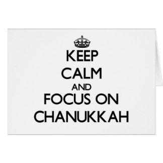 Keep Calm and focus on Chanukkah Greeting Card