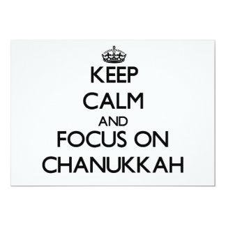 Keep Calm and focus on Chanukkah Custom Invitation