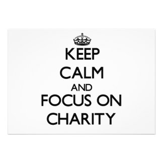 Keep Calm and focus on Charity Announcement