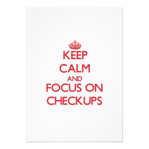 Keep Calm and focus on Checkups Card