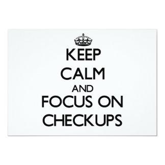 "Keep Calm and focus on Checkups 5"" X 7"" Invitation Card"
