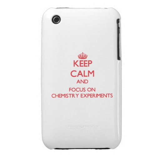 Keep Calm and focus on Chemistry Experiments iPhone 3 Case-Mate Cases