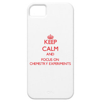 Keep Calm and focus on Chemistry Experiments iPhone 5 Cover