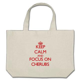 Keep Calm and focus on Cherubs Tote Bag