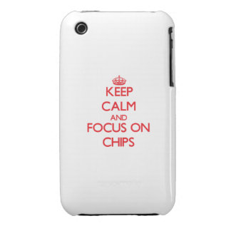 Keep Calm and focus on Chips iPhone 3 Case