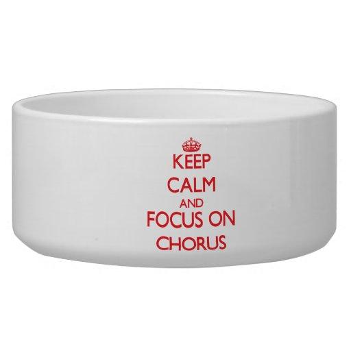 Keep Calm and focus on Chorus Pet Water Bowl
