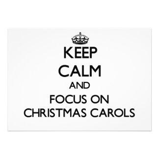 Keep Calm and focus on Christmas Carols Custom Announcements